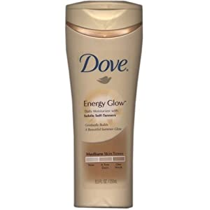 DOVE Energy Glow Daily Moisturizer with Subtle Self-Tanners Medium to Dark Skin Tones 8.5 oz