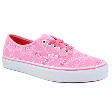 Vans Hello Kitty Authentic QERL8T Womens Laced Canvas Trainers Pink