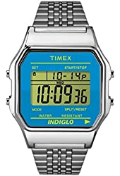 Timex Mens CLASSIC STEEL Digital Casual Quartz Watch NWT TW2P65200