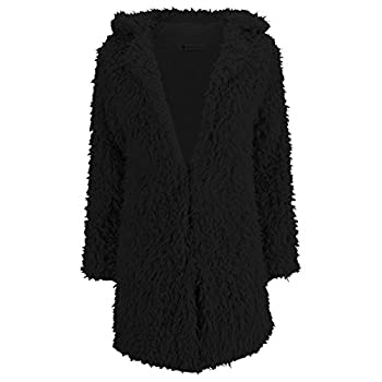 Fedi Apparel Women's Winter Warm Vintage Faux Fur Coat Outwear Cardigan Jacket