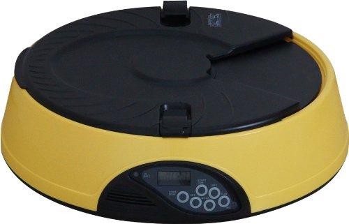 ottostyle.jp 【音声録音機能、タイマー付き】 自動給餌器 オートペットフィーダー (最大6回分のエサを自動給餌、約7秒の音声を録音)