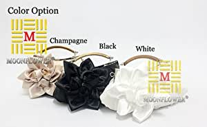Factory Price Popular Flower Silk Elegant Evening Bag Ladies' Evening Bag Black/white/champagne Available