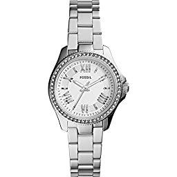 Fossil Women\'s AM4576 Cecile Small Three Hand Stainless Steel Watch - Silver-Tone
