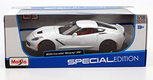 2014 Chevrolet Corvette Stingray Z51 White 1/18 by Maisto 31677 (Chevrolet Corvette Model compare prices)