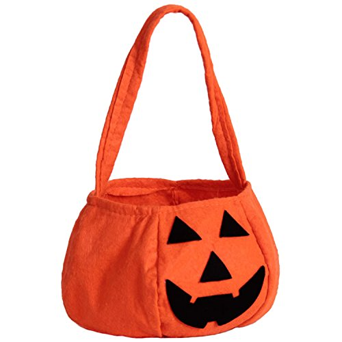 ZOEREA 1 PCS Halloween Pumpkin Bag Kids Candy Bag for Halloween Party Costumes