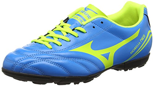 MizunoMorelia Neo Cl as - Scarpe da Calcio uomo , Blu (Blue (Diva Blue/Safety Yellow)), 44