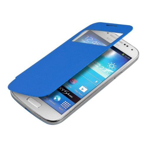 kwmobile フリップスタイル保護カバー Samsung Galaxy S4 Mini i9190 / i9195用 ライトブルー - ふた付きフリップカバー