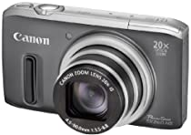 Canon PowerShot SX260 HS 12.1 MP CMOS Digital Camera with 20x Image Stabilized Zoom 25mm Wide-Angle Lens and 1080p Full-HD Video (Gray)