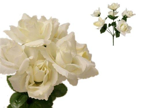 252 Cream Silk Open Roses Wedding Flowers Bouquets