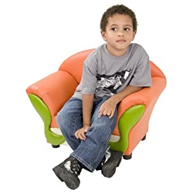 Kids Chair and Seating - Vinyl Upholstered Kid's Lounge Chair - KG-BK06-S010-GG