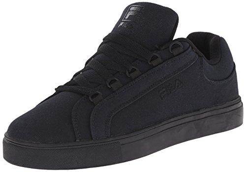 Fila Women's Oxidize Low Casual Leather Shoe, Black/Black/Black, 7 M US