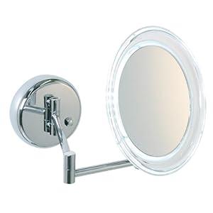 kosmetikspiegel beleuchtet enzo rodi 413610 aufladbarar led kosmetikspiegel mit 5 fach. Black Bedroom Furniture Sets. Home Design Ideas