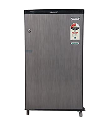 Videocon VCL093SH Marvel Direct-cool Single-door Refrigerator (80 Ltrs, 3 Star Rating, Silver Hair Line)