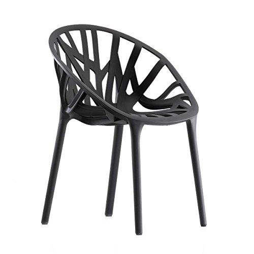 Vitra 440 015 0001 Vegetal Stuhl, basic dark