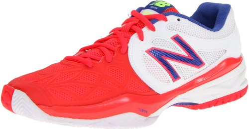 New Balance Women's WC996 Lightweight Tennis Shoe,White/Pink,7 B US
