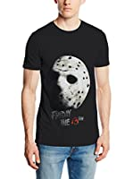 ICONIC COLLECTION - FRIDAY THE 13TH Camiseta Manga Corta Friday The 13Th Jason Mask (Negro)