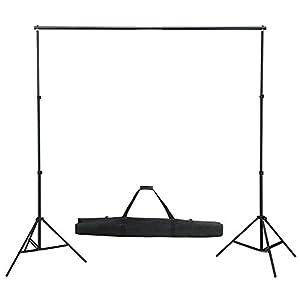 Kit support de fond pour studio photo 300 cm sans toile trépied + sac