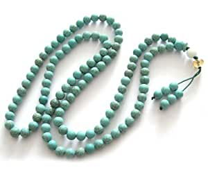 Ovalbuy 6mm 108 Howlite Turquoisite Beads Buddhist Prayer Rosary Mala