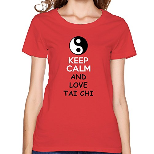 Flycro Crew Neck Women'S Yin Yang Fashion T-Shirt