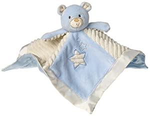 Mary Meyer Thready Teddy Character Blanket, Blue