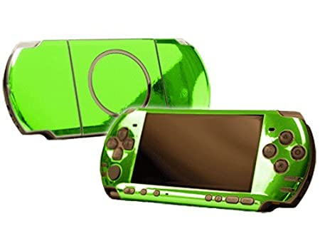 PlayStation Portable 3000 (PSP-3000) Skin - NEW - LIME CHROME MIRROR system skins faceplate decal mod