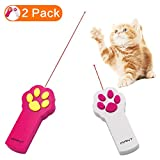 Kany Paw Style Cat Catch The Interactive LED Light Pointer Exercise Chaser Toy Pet Scratching Training Tool(2 Pack)