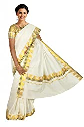 Atex Cotton Zari Saree (5194 _Ivory)