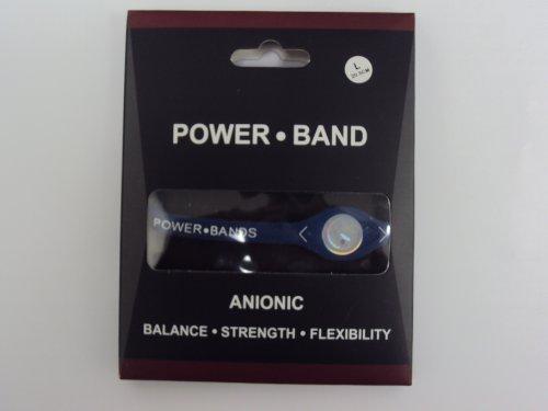 Power Band Silicone Wristband Bracelet – Blue / White (Large) Balance . Srength . Flexibility
