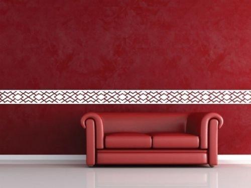 creative design tribal quadratisch abstrakt line wandbild bord re abnehmbar umweltfreundlich pvc. Black Bedroom Furniture Sets. Home Design Ideas