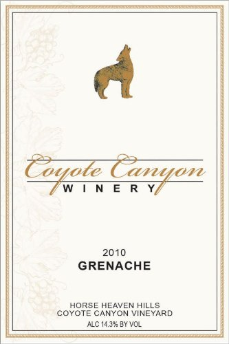 2010 Coyote Canyon Winery Horse Heaven Hills Estate Grenache 750 Ml