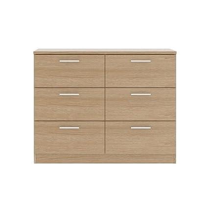 Bronte 3+ 3cajones anchos–), diseño con efecto de madera de roble