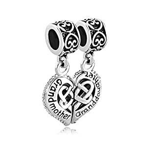 amazoncom myd jewelry grandmother granddaughter charms