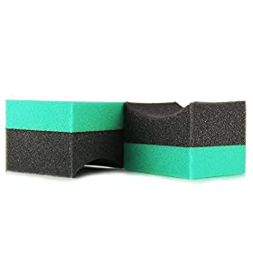 Chemical Guys ACC3002 Durafoam Contoured Large Tire Dressing Applicator Pad (Pack of 2)