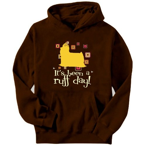 Yorkshire Terrier It´s Been A Ruff Day! Mens Hoodie