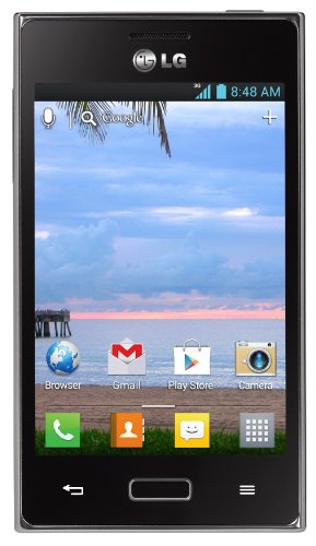 LG 800G Black Smartphone - Net10 Wireless (20 MB Internal Storage