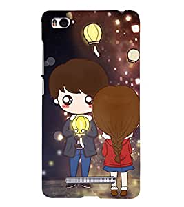 99Sublimation Boy and Girl with Lamp 3D Hard Polycarbonate Back Case Cover for Xiaomi Mi 4i :: Xiaomi Redmi Mi 4i