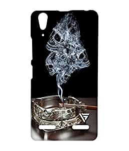 Vogueshell Skull Smoke Printed Symmetry PRO Series Hard Back Case for Lenovo A6000
