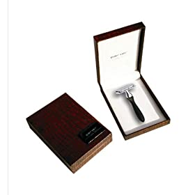 Parker Double Edge Safety Razor 12R with Buffalo Horn Handle