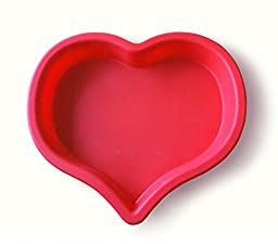 CAKE PAN, FOOD MOLD AND BAKEWARE: HEART SHAPED 100% FOOD GRADE SILICONE NON-STICK