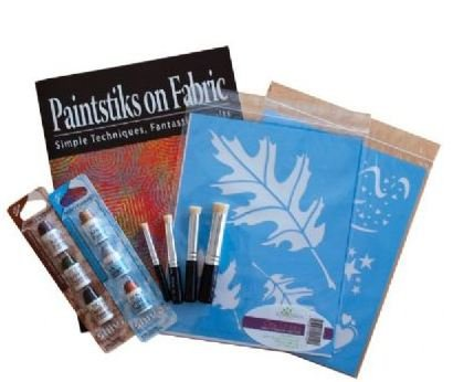 Cedar Canyon Textiles Paintstiks Fabric Art Sampler Set INCLUDES BRUSHES, BOOK STENCILS, AND PAINTSTIKS