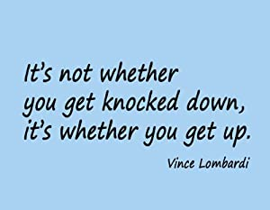 Vince Lombardi Quotes Knocked Down