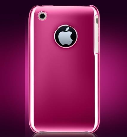 For Apple iPhone 3G | iPhone 3G S | iPhone 3GS 2nd Generation Crystal Chrome Case Hard Protector Cover (Hot Pink with rear protect only) + Free Mirror Screen Protector Shield with Micro Cleaning Cloth