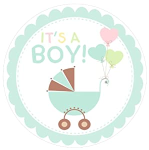baby shower welcome boy blue edible cake topper