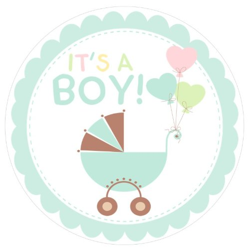 Baby Shower Welcome {Boy Blue} Edible Cake Topper Decoration front-47530