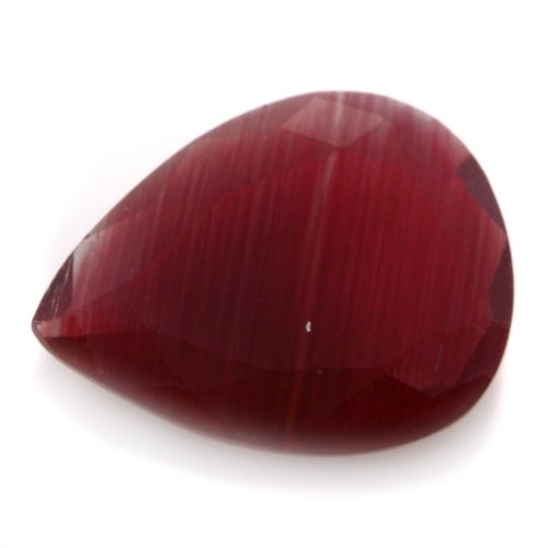 Natural Africa Red Andesine Loose Gemstone Pear Cut 10*8mm 1.30cts VS Grade
