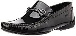 Ruosh Mens Black Loafers - 7.5 UK/India (41 EU)(8.5 US)