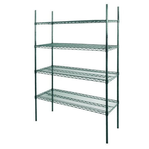 """Commercial Green Wire Shelving Unit 72(H)"""" X 36(W)"""" X 24(D)"""""""