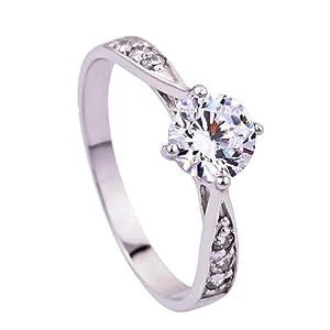 925 argent fin swarovski elements cristal diamant reine de luxe bague pour femme homme taille 48. Black Bedroom Furniture Sets. Home Design Ideas