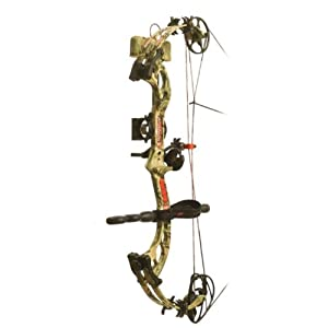 PSE Ready To Shoot Surge Bow Package with Left Hand 70# Draw, Break-Up Infinity,... by PSE
