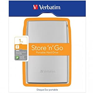 "Verbatim 53071 Store 'n' Go Disque dur externe portable 2,5"" 1000 Go 8 Mo USB 3.0 Argent"